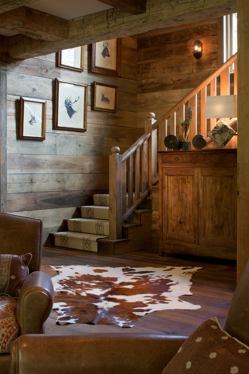 Stairway with Cowhide Rug