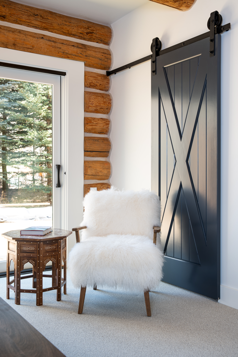 Wooly Chair with Sliding Barn Door