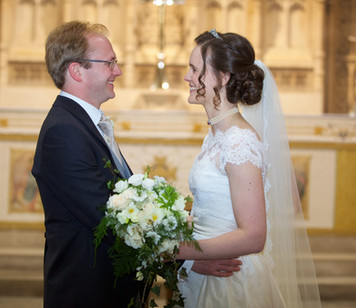 Spring Wedding Bridal Bouquet- Church Detail