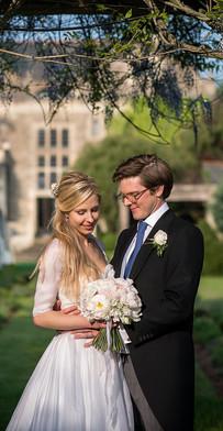 Summer Wedding Flowers- Bride with Groom