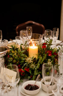 Winter Wedding Flower Arrangement center pieces