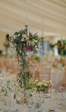 Summer Wedding Flower Centre Piece Table  Arrangements- Detail
