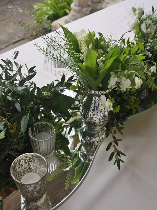 Spring Wedding Flower Table Arrangements- Detail