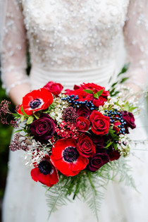 Winter Wedding Bridal Bouquets- Detail