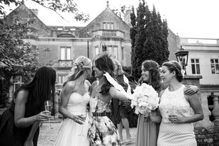 Summer Wedding Flower Bride with Bridal Bouquet and friends