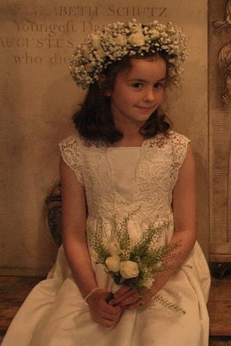 Spring Wedding- Flower Girl with flower crown