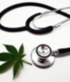 Medical cannabis from a doctor on a whit