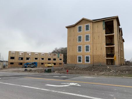 April Update: Building B Framed
