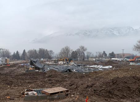 January Update: Underground plumbing and road work