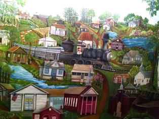 Mural painted by Mary Mitchell