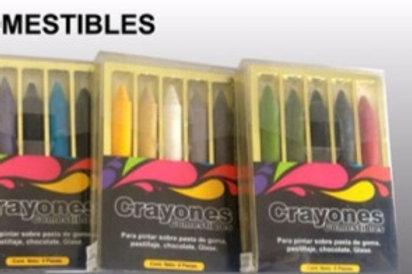 crayones comestibles x 5 unidades