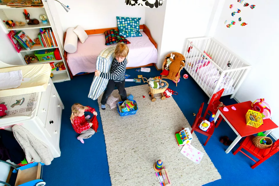 Decluttering kids' rooms can be a challenge.  If you need to, do a little every day until you get the job done. Opt for temporary storage services to help you make more space at home.