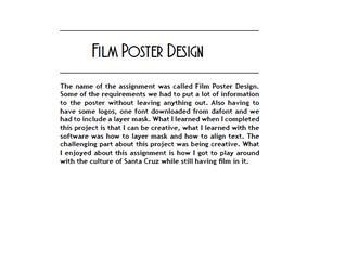 GD 1 Portfolio Project Descriptions