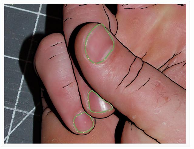 Step 4: add nail shapes