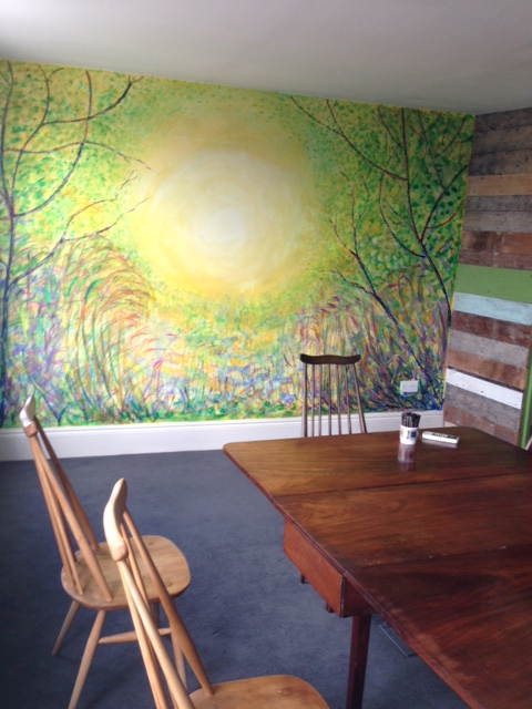 """""""Outdoors, Upstairs"""" at Coffee7"""