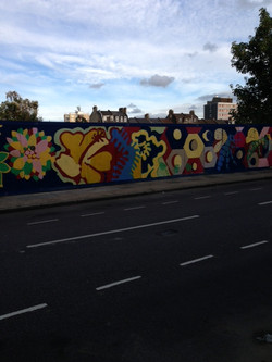 part of the finished hoarding