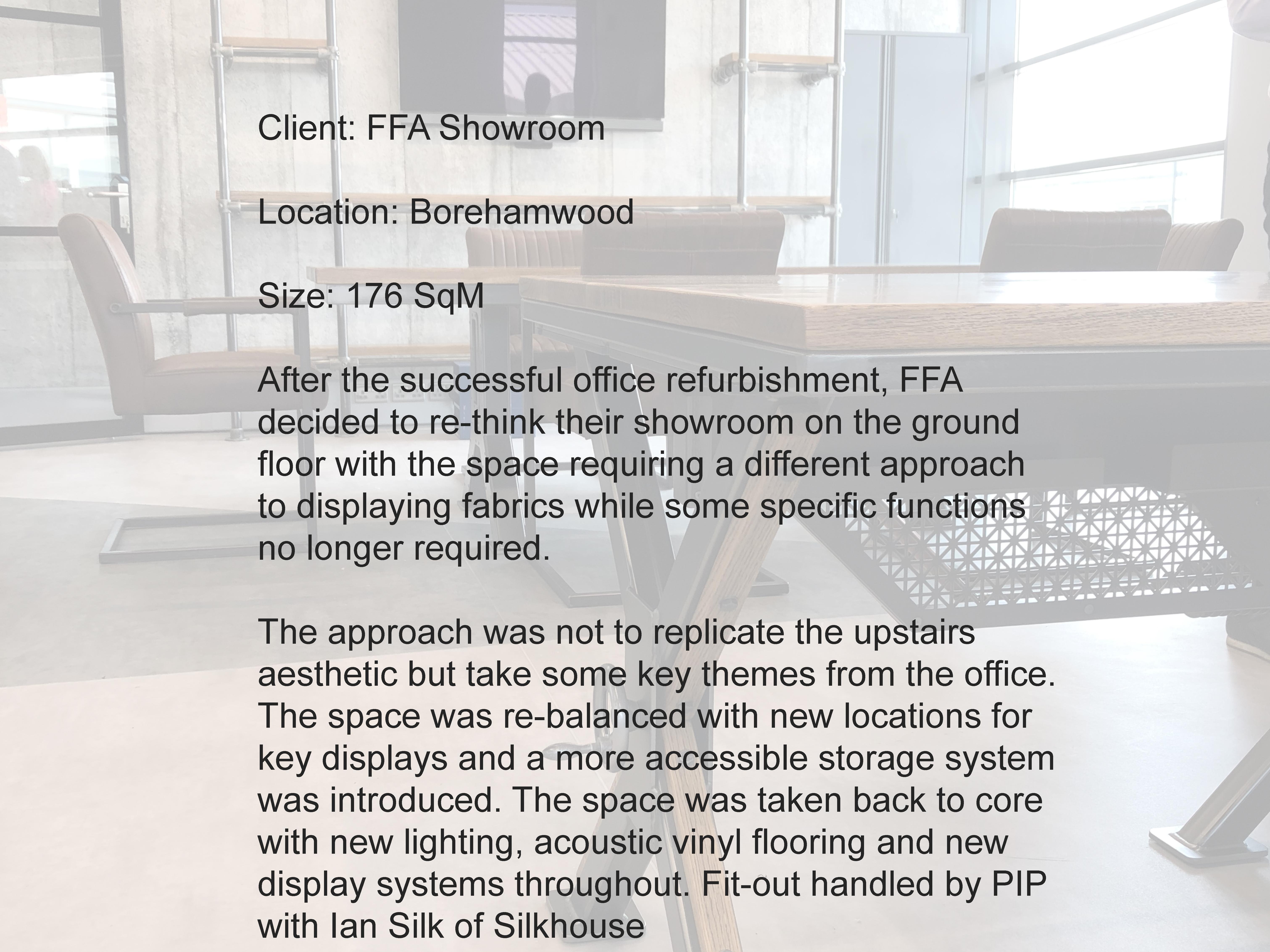 FFA Showroom text