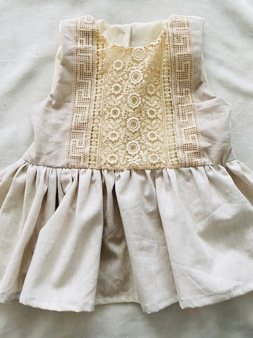 French Lace + Linen Heirloom Top