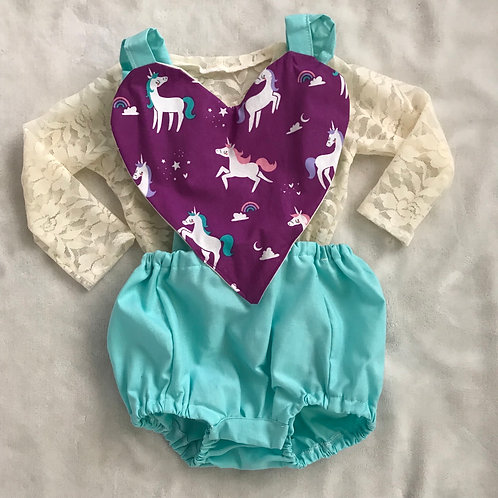 Unicorn Heart Romper