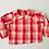 Thumbnail: Red Gingham Peter Pan Collar Blouse