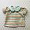 Thumbnail: Rainbow Stripes Peter Pan Collar Blouse