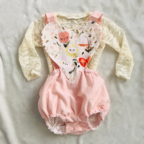 Happy Flowers Heart Romper