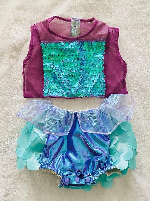 Mermaid Sparkle Crop Top & Bloomers