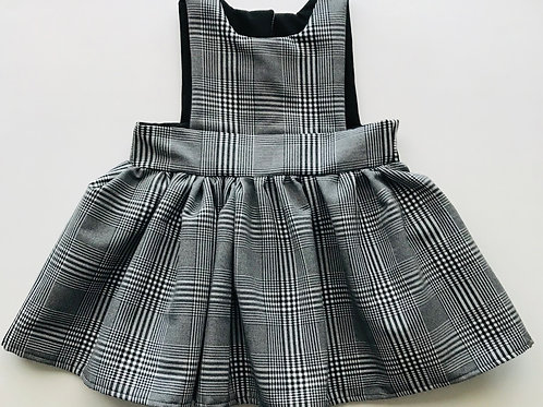 Grey and Black Plaid Pinafore