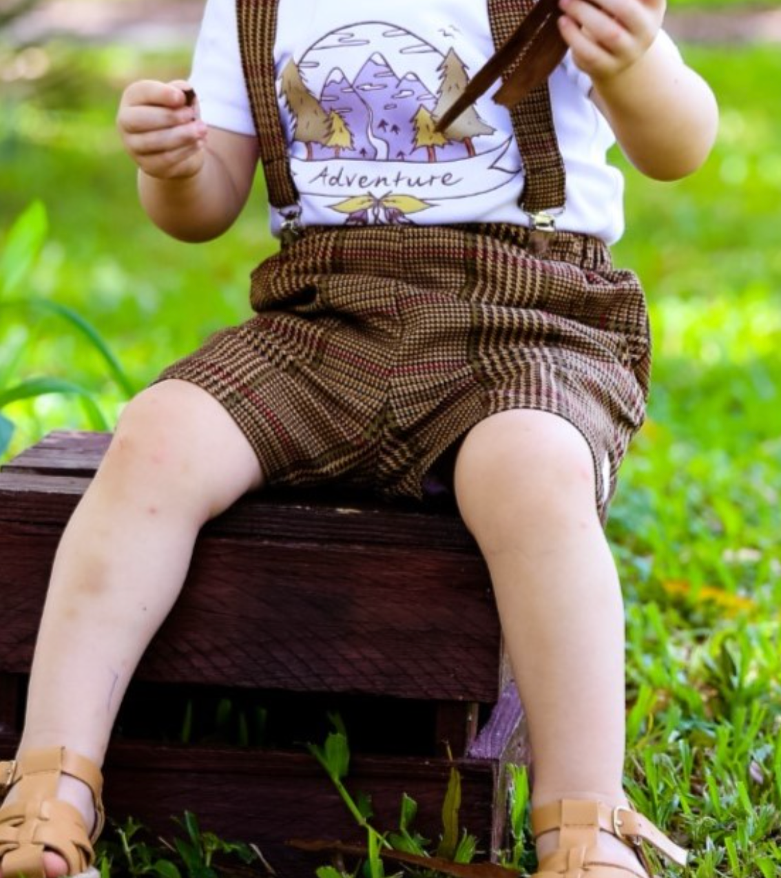 Sew Little Time Suspender Shorts
