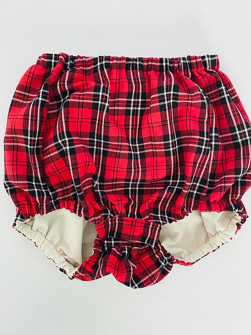 Red + Black Plaid Bloomers