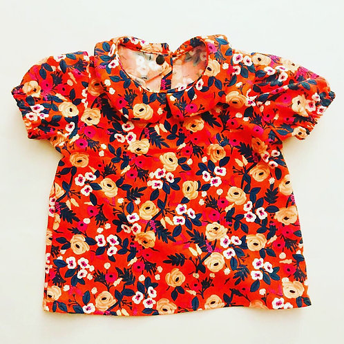 Rose Peter Pan Collar Top
