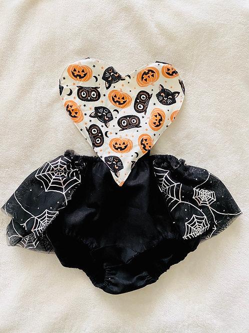 Halloween Heart Romper