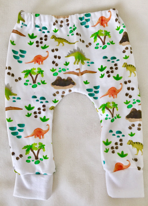 fa272156873 These adorable slim fit harem pants/leggings are handmade with organic  cotton interlock knit fabric with a whimsical print designed at our studio  ...
