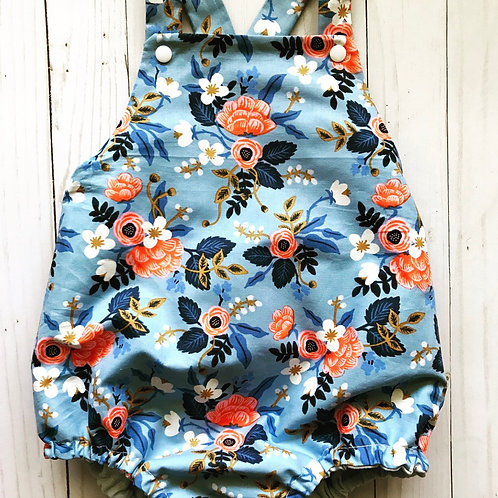 Baby Romper Birch Floral (Periwinkle)