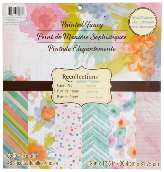 Recollections Painted Fancy Paper at Michaels