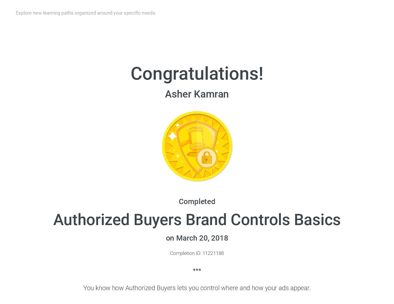 Authorized Buyers Brand Controls Basics