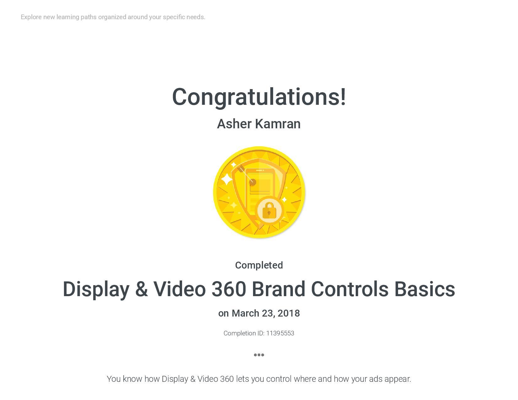Display & Video 360 Brand Controls Basic
