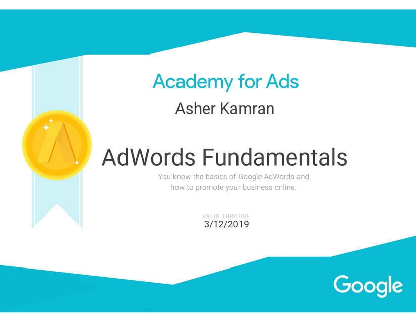 Adword Certificate