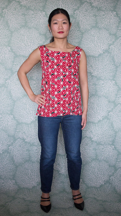 Gaia boatneck blouse