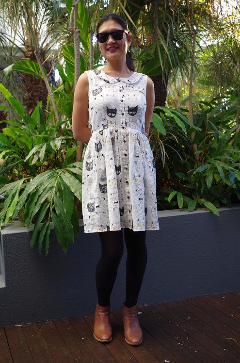 Janey cotton print dress