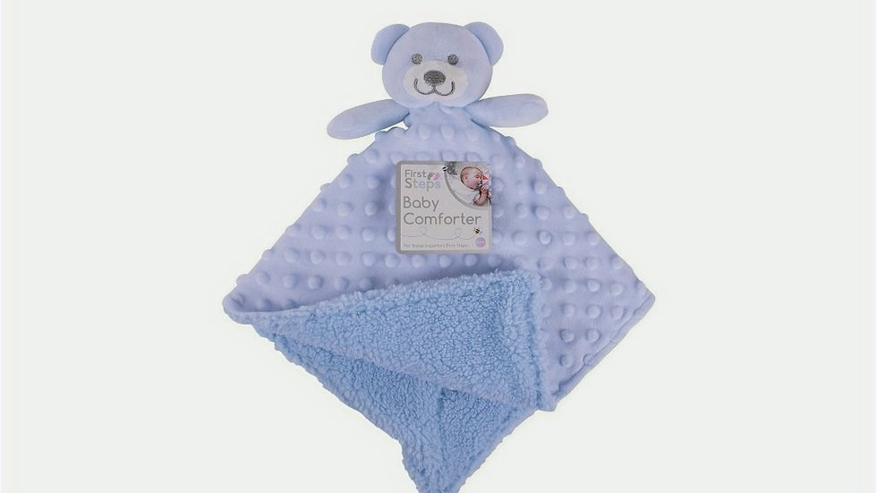 First Steps Baby Comforter pink, white or blue