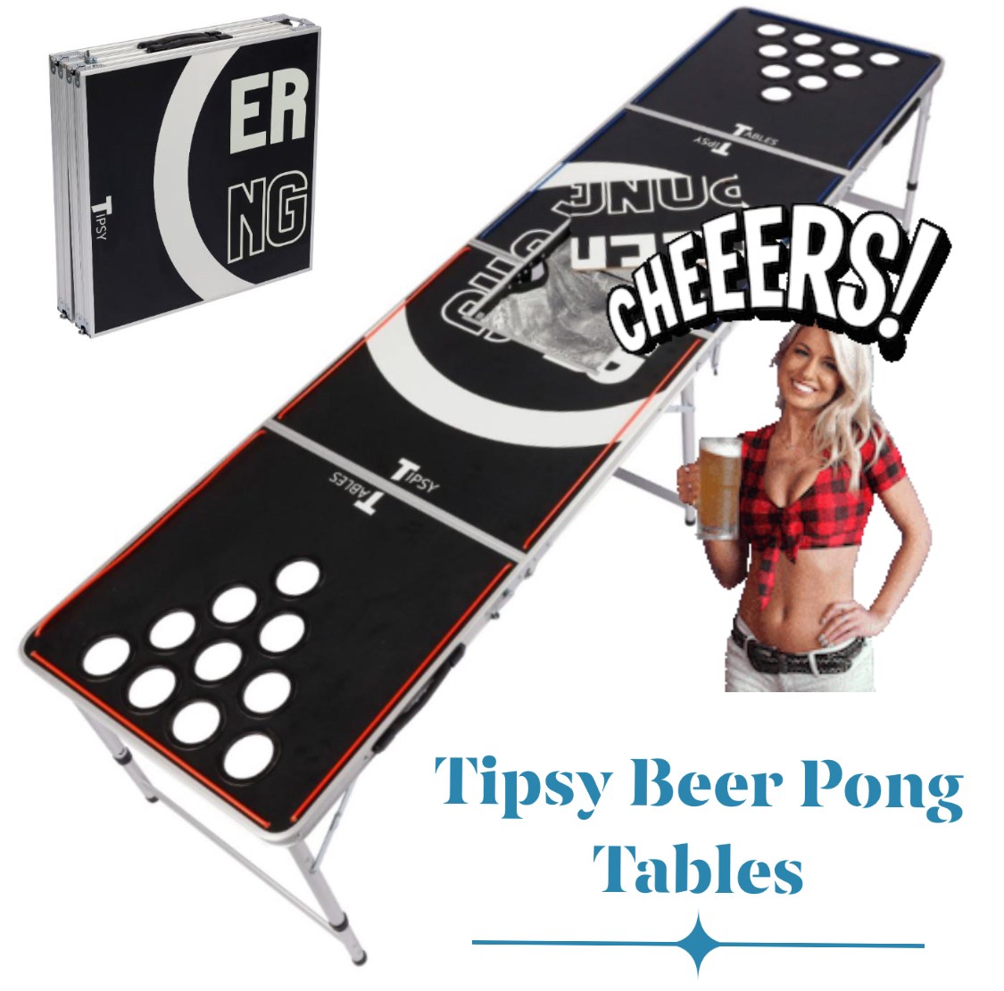 Tipsy Beer Pong Table