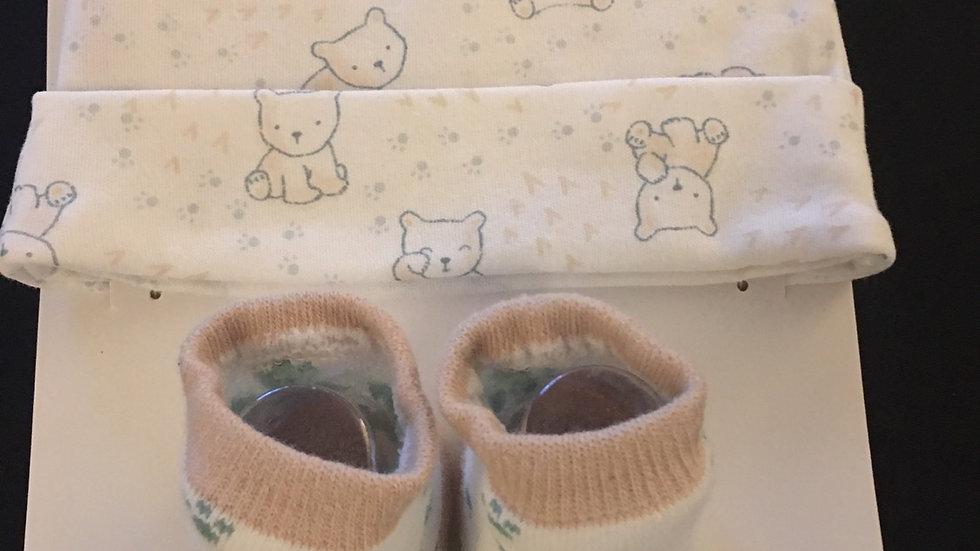 Baby Bear Socks & Hat Set