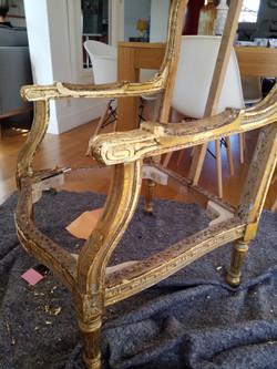 Restauration à la feuille d'or