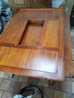 Restauration d'une table de salon