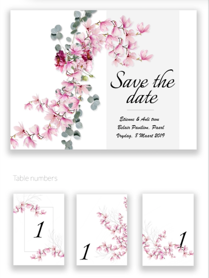 Wedding Stationary - graphic design