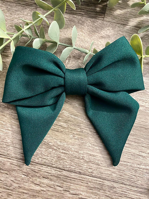 Bottle Green Holly Bow
