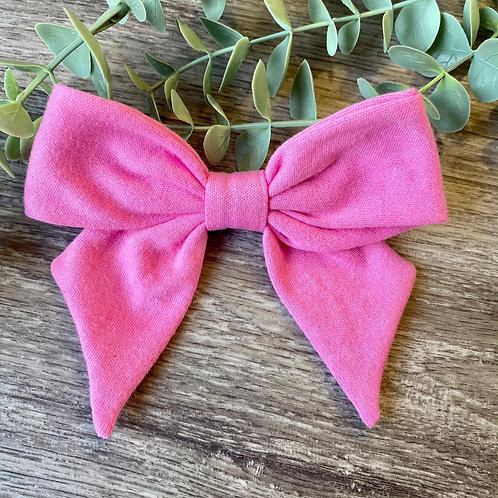 Bright Pink Holly Bow