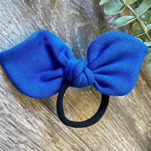Royal Blue Knot Bow Bobble