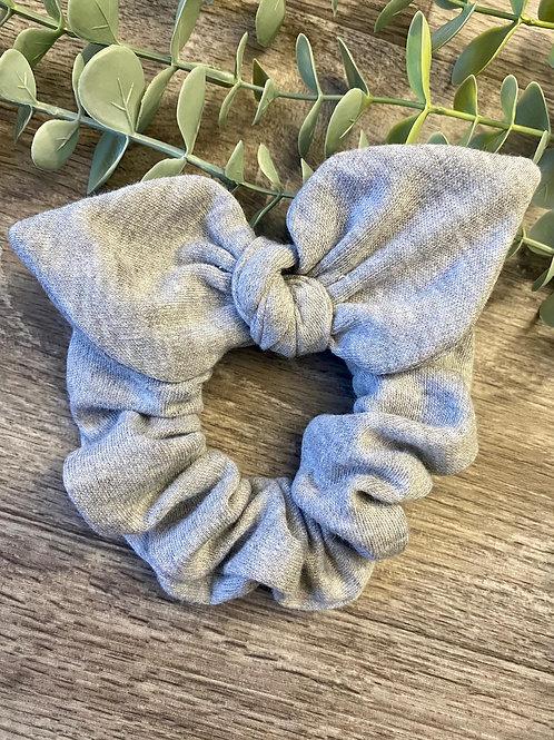 Marl Grey Knot Bow Scrunchie